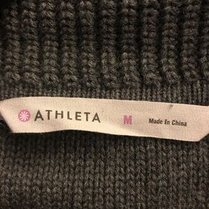 Athleta Dresses - Athleta Gray Short Sleeve Sweater Dress Size M